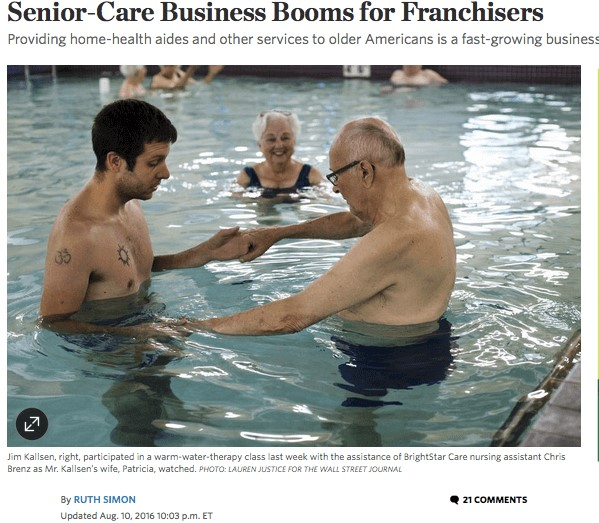 wall street journal senior care franchises
