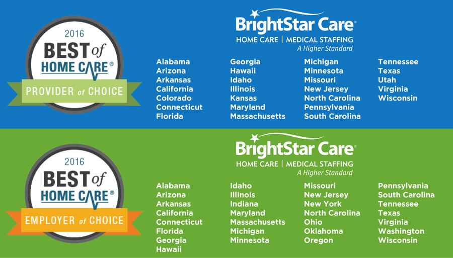 brightstar care named provider of choice and employer of choice by home care pulse